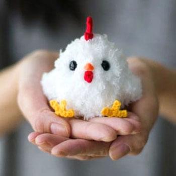 Amigurumi tyúk  - kicsi horgolt csirke (ingyenes horgolásminta)