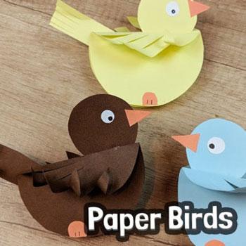 Ringó papír madárka - kreatív tavaszi ötlet gyerekeknek