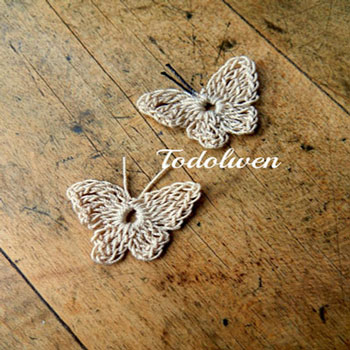 Villámgyors egyszerű horgolt pillangó - ingyenes horgolásminta