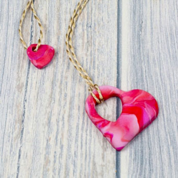DIY Mother and child heart necklace - Mother's day gift