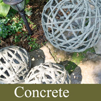 DIY Giant concrete garden orbs - garden decor