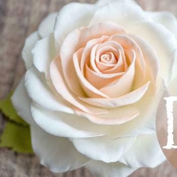 Dekorgumi rózsa házilag - tavaszi virág készítési videó útmutató