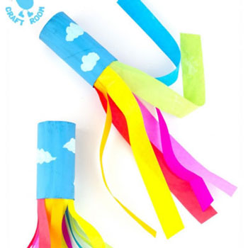 DIY Toilet paper tube rainbow blowers - fun paper craft for kids