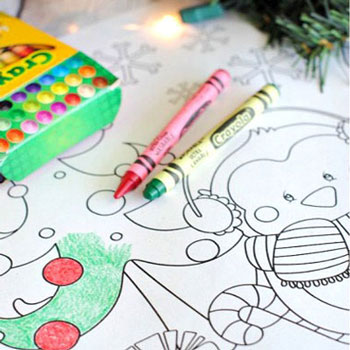 Christmas coloring book pages (free printable)
