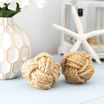 DIY Nautical rope orb (monkey fist knot) - home decor