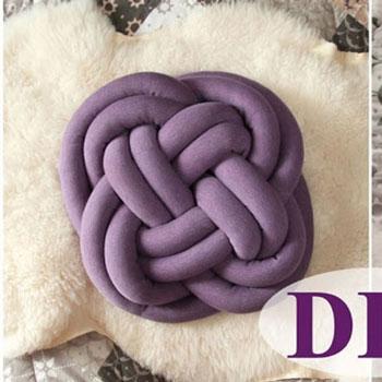 Csomó párna textilből egyszerűen - különleges lakásdekoráció ( varrási útmutató )
