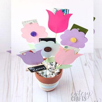 Ajándékutalvány virág csokor - kreatív ajándék ötlet