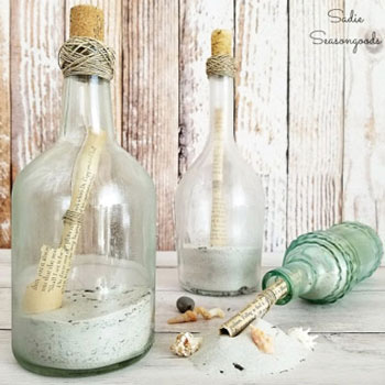 DIY Message in a bottle - summer beach decor