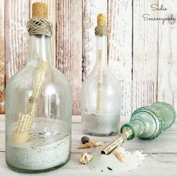 Üzenet a palackban (palackposta házilag) - nyári dekoráció