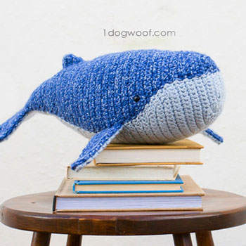 Amigurumi whale ( baby humpback whale ) - free crochet pattern