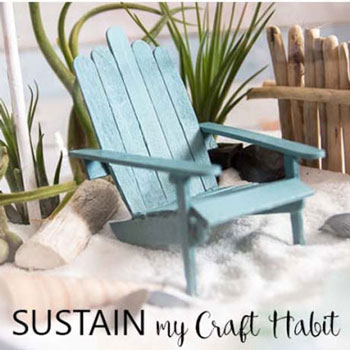 DIY Beach sun chair from craft sticks - summer decor