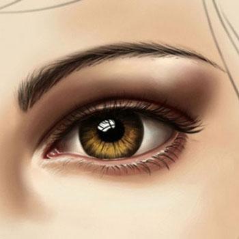 Élethű szem festése, árnyékolás - (digitális) festészet