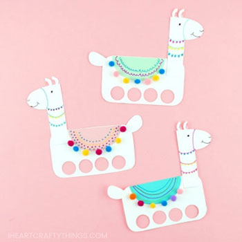 DIY Paper Llama Finger Puppets Free Pintable Template