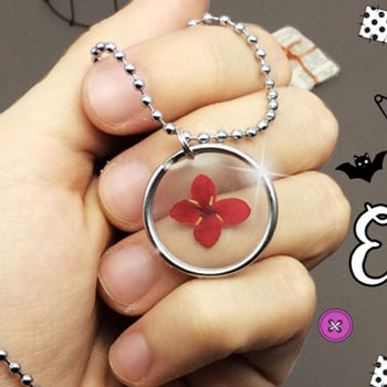 DIY Pressed flower necklace without resin - jewelry making