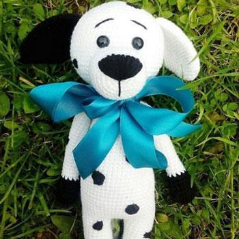 Amigurumi dalmata kutya (ingyenes horgolásminta)