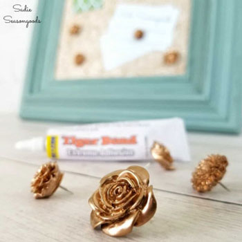 DIY Thumbtacks - bulletin board decoration (office decor)