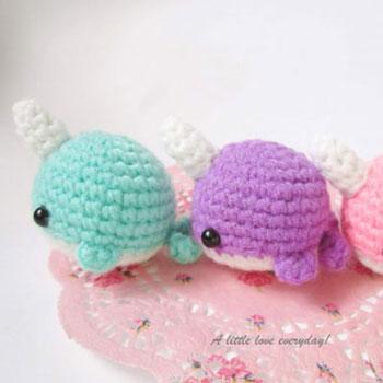 Miniature Amigurumi Narwhal Free Crochet Pattern Mindy