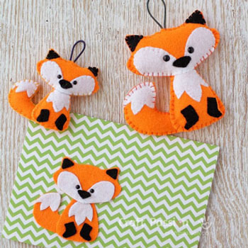 Easy little felt fox (free sewing pattern & tutorial)