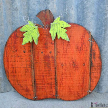 Fa tök raklapból - kreatív őszi kültéri dekoráció