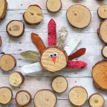Farönkszelet pulyka - egyszerű kreatív őszi ötlet gyerekeknek
