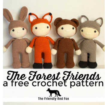 Forest friends - adorable amigurumi animal dolls ( free crochet patterns )