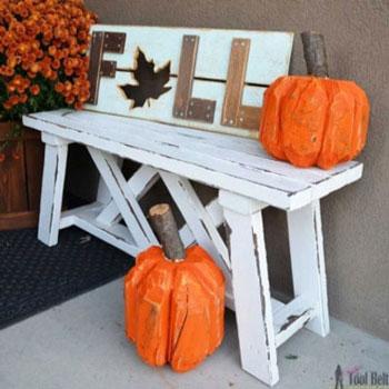 Farönk tök - kreatív őszi dekoráció farönkökből