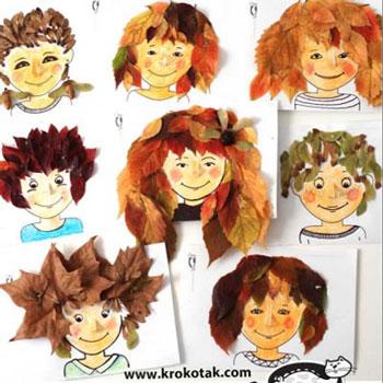 Fodrászszalon falevelekkel - őszi frizurák ( kreatív ötlet gyerekeknek őszre )