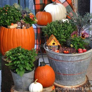 Őszi tündérkert egyszerűen - kreatív kerti dekoráció
