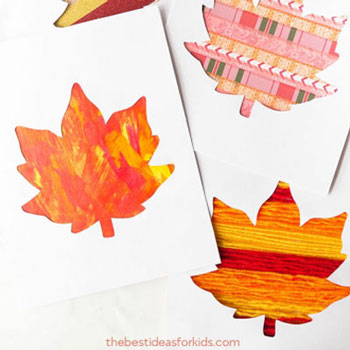 Őszi faleveles képeslap egyszerűen - kreatív őszi ötlet gyerekeknek