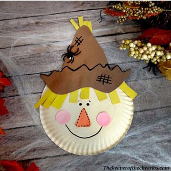 Papírtányér madárijesztő - kreatív őszi ötlet gyerekeknek