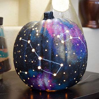 Galaxis tök - különleges őszi töklámpás (őszi dekoráció)