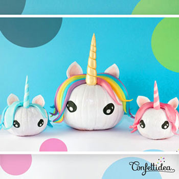DIY Unicorn pumpkin - fun Halloween decor