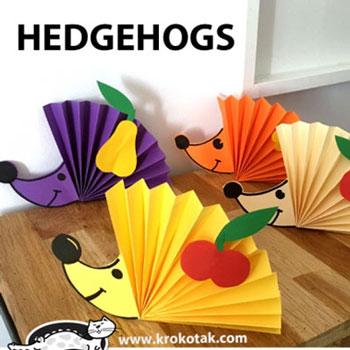 Egyszerű papír süni harmonika hajtással (origami gyerekeknek)