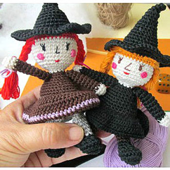 Amigurumi witches - free amigurumi witch pattern (hungarian)