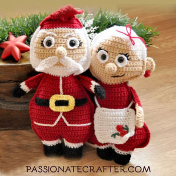 Mr. and Mrs.Santa Claus - free crochet patterns (Christmas ragdolls)