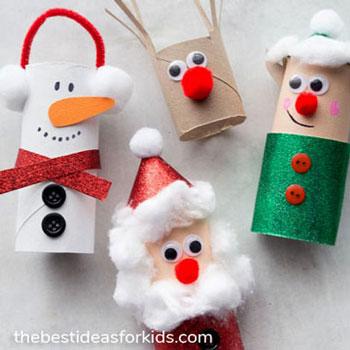 Wc papír guriga Mikulás, hóember, rénszarvas és manó