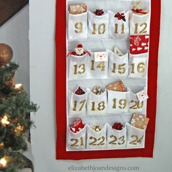 DIY Shoe organizer advent calendar