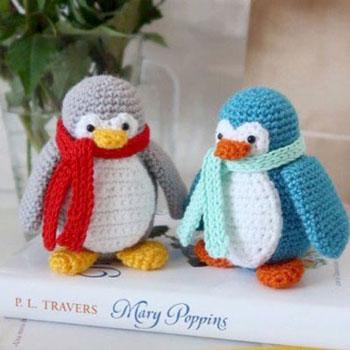 Amigurumi pingvin sállal (ingyenes horgolásminta és videó útmutató)