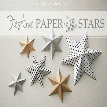 Térbeli papír csillagok egyszerűen - karácsonyi dekoráció