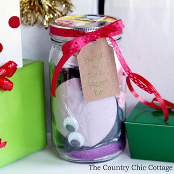 Zoknifigura készítő készlet befőttesüvegből - kreatív karácsonyi ajándék gyerekeknek