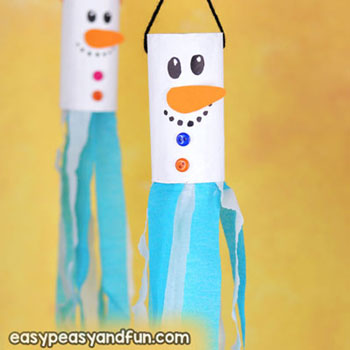 Hóember széljáték wc papír gurigából - kreatív téli ötlet gyerekeknek