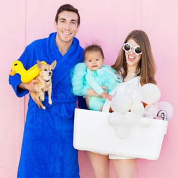 Habfürdő jelmez - vicces családi jelmez farsangra egyszerűen
