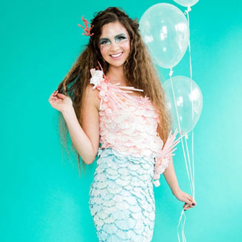 DIY Coffee filter mermaid costume