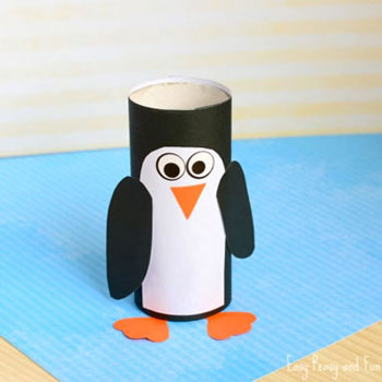 Diy Toilet paper roll penguin - winter craft for kids