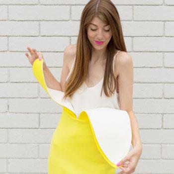 Egyszerű banán jelmez alap ruhadarabokból (farsangi jelmez)