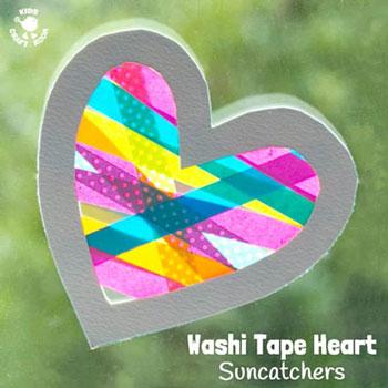 Valentin napi szívecske ablakdísz egyszerűen színes papírból