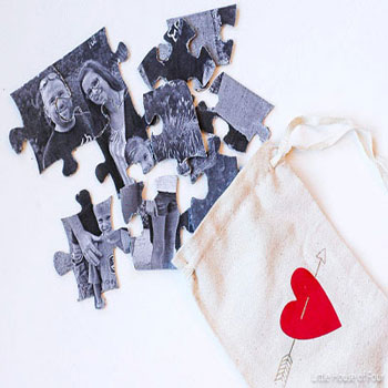 Egyedi családi fényképes puzzle házilag egyszerűen