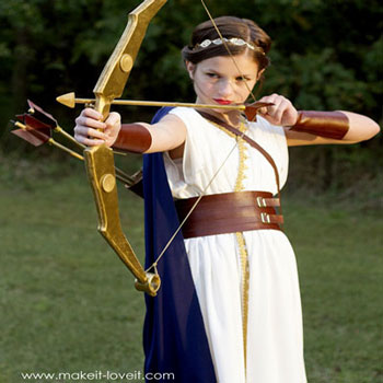 DIY Artemis costume (Greek goddess costume)