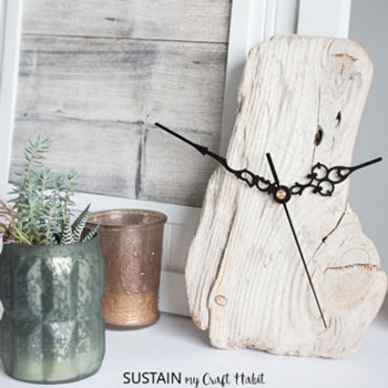DIY Driftwood clock - rustic home decor