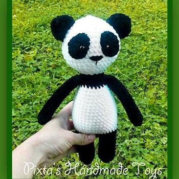 Puha amigurumi panda (ingyenes horgolásminta)